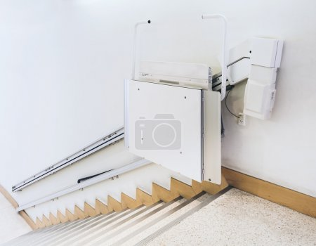 Photo for Disability stairs lift facility service in Public Building - Royalty Free Image