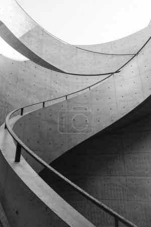 Photo for Architecture details Spiral staircase Black and white - Royalty Free Image