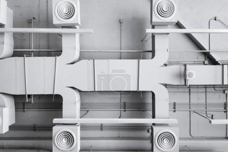 Air conditioner ventilation installation system