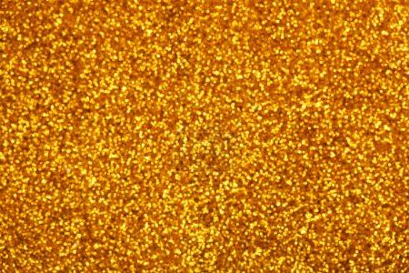 Photo for Golden glitter bokeh background. Festive and sparkles - Royalty Free Image