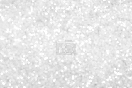 Photo for Silver glitter bokeh background. Blurred glowing circles - Royalty Free Image
