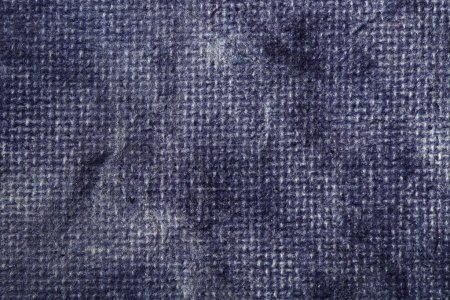 Photo for Blue vintage textile texture with a blue screen pattern. Can be also used as background - Royalty Free Image