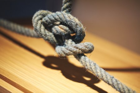 Tangled rope close up