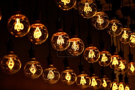Lamps with interesting shape of tungsten filament