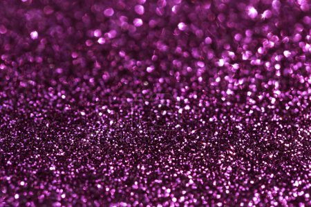 Photo for Glamour pink sparkling background. Blured glitter background with blinking stars. Holiday abstract texture. - Royalty Free Image