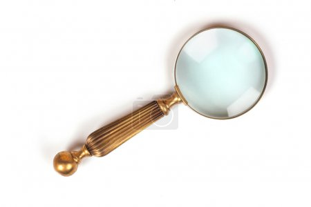 vintage magnifier isolated