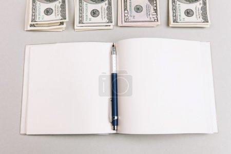 Counting money and making notes