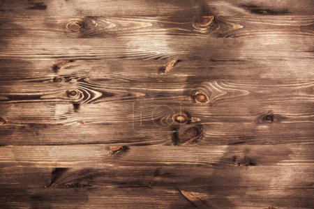 Photo for Fresh painted wooden surface. Grey wooden table - Royalty Free Image
