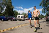 FORESTHILL CA June 27, 2015 - Men Running in Western States 100-Mile Endurance Run