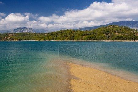 Landscape with an artificial water reservoir