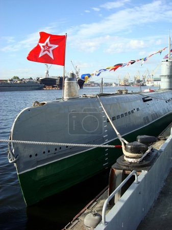 St. Petersburg,  u-boat with the flag of the USSR