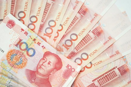 Yuan notes from China's currency