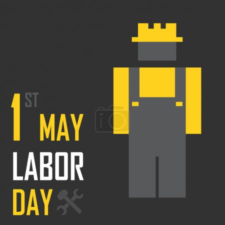 May 1st Labor (labour) day illustration