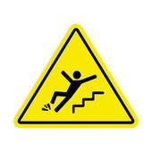 Náznaku nebezpečí pádu kvůli ledu na schodech