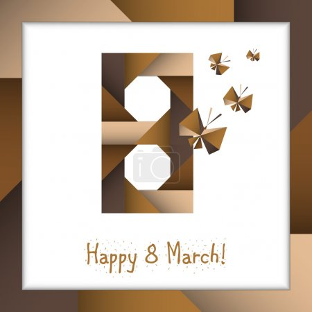 postcard happy March 8 (greeting card design for International W