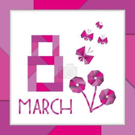 postcard happy March 8 (international women's day)