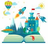 Otevřít knihu s raketou