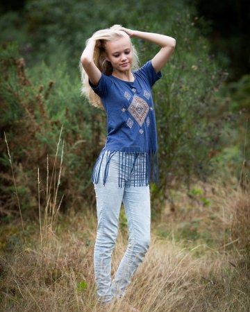 Beautiful Angel White Teenage Girl In A Field