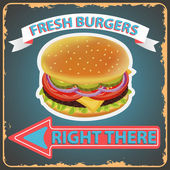 Retro style delicious burgers menu Vector illustration can be used for food menu or posters design prints web and other crafts