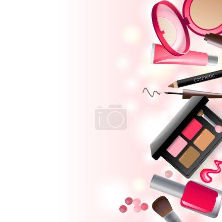 Glamorous make-up background