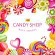 Bright background with candies...