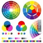 Color guides vector illustration...