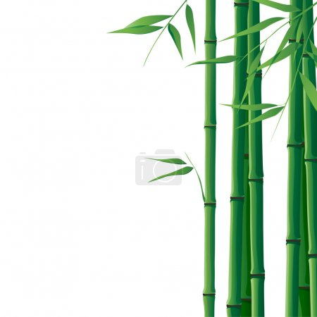 Illustration for Bright  background with bamboo and place for your text - Royalty Free Image