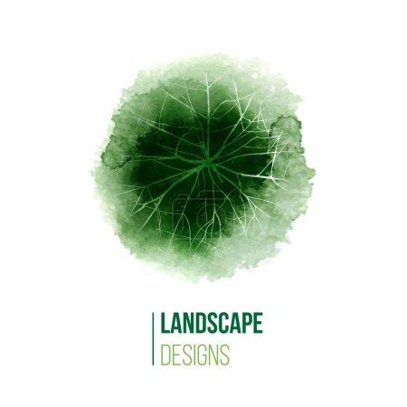 hand drawn landscape design logo