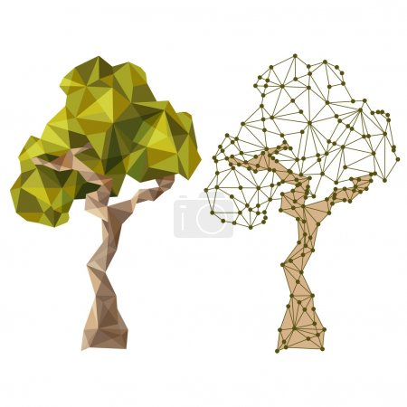 Illustration for Tree in low poly style - Royalty Free Image