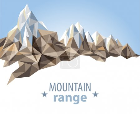 Illustration for Mountain range in origami style - Royalty Free Image
