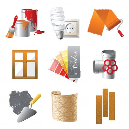 Illustration for Home repair icons set - Royalty Free Image