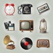 9 highly detailed retro-styled objects...