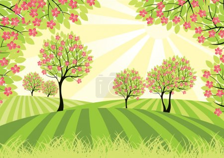 Illustration for Spring landscape. - Royalty Free Image