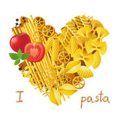 heart made from pasta