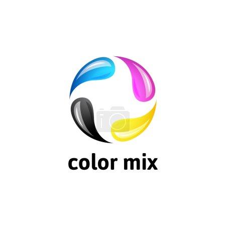 CMYK logo template