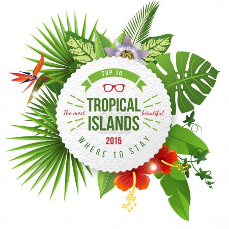 Tropical emblem with type design