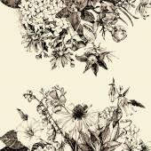 Hand-gezogene floral Karte