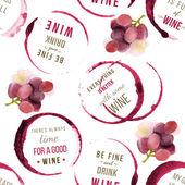 Typ vína návrhy bezešvé