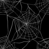 Seamless pattern with spider web Made with clipping mask