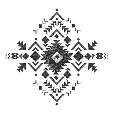 hand drawn tribal design element