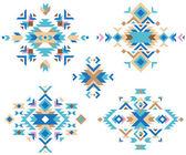 colorful tribal design elements