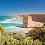Twelve Apostles in Australia in the daytime, long ...