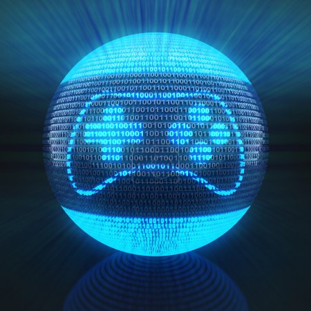Photo for Gaming icon on globe formed by binary code, 3d render - Royalty Free Image