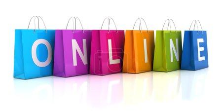 Online shopping concept, 3d render