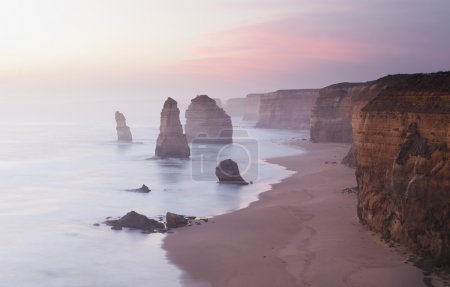 Twelve Apostles in Australia at sunset