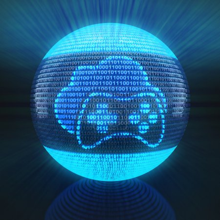Photo for Cloud gaming icon on globe formed by binary code, 3d render - Royalty Free Image