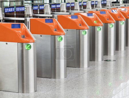 Photo for Ticket gates at a railway station in China - Royalty Free Image