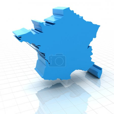 Extruded map of France