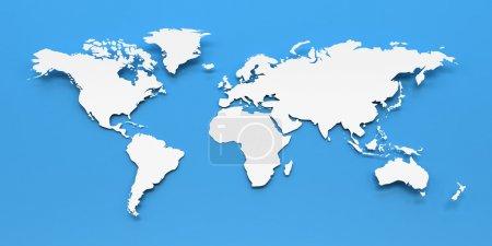 Weltkarte aus Papier