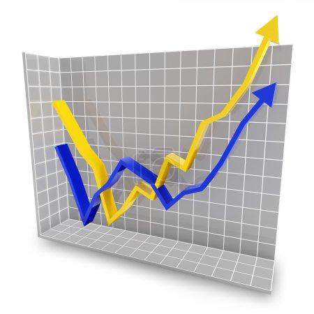 Rebound line graph